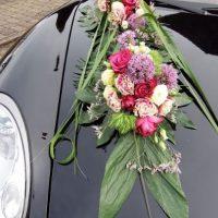 Autodeko, Autodekoration, Hochzeit, Hochzeitsfloristik