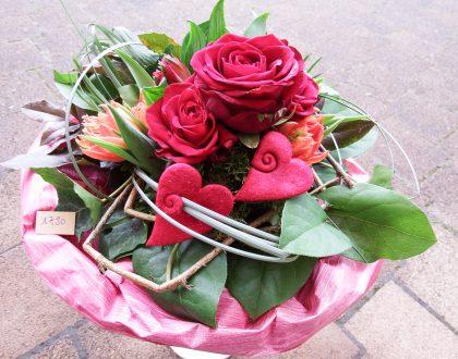 Valentinstag - Natürlich mit Blumen...