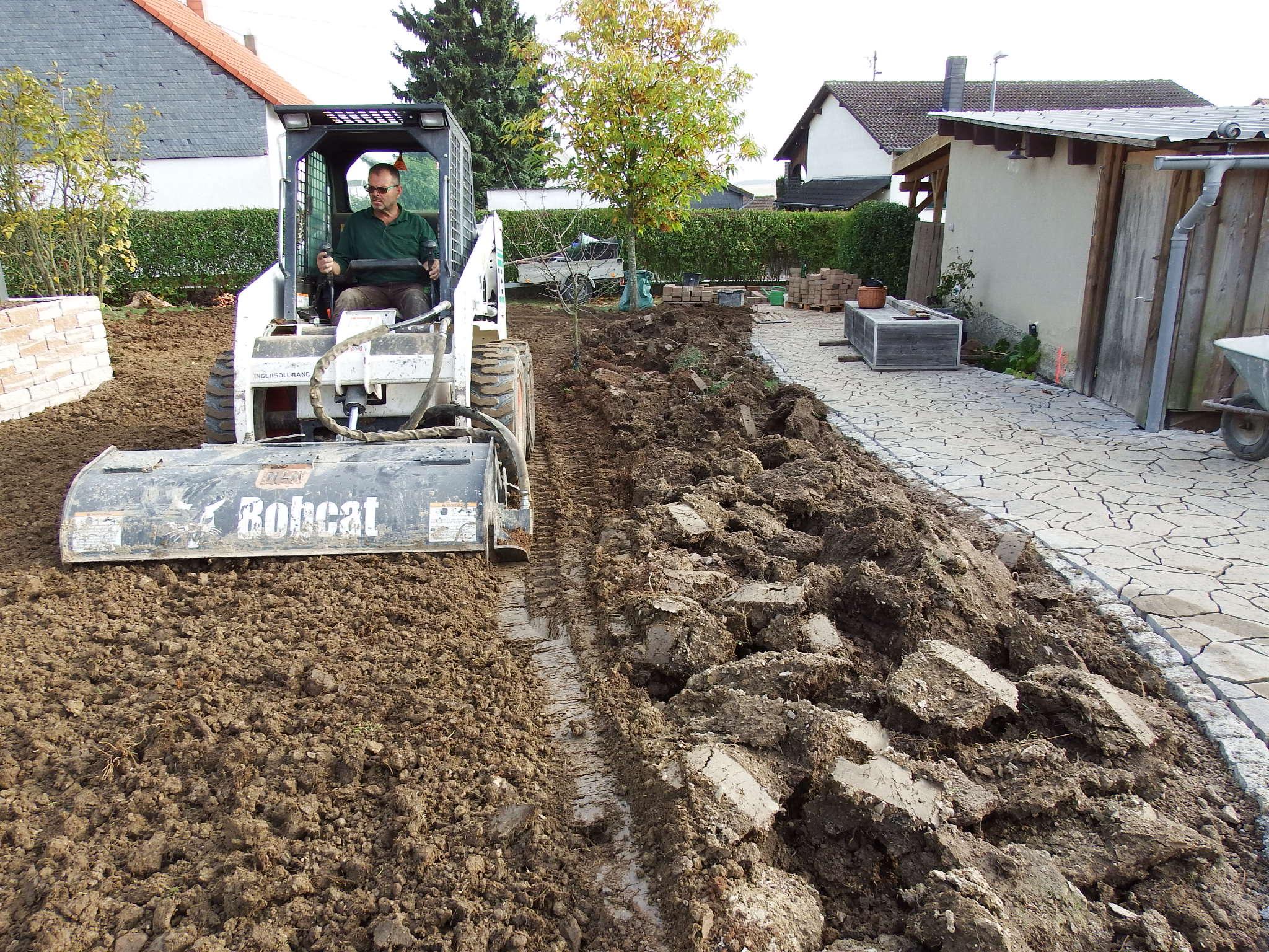 Erdarbeiten Frasen Eines Gartens Nach Vorheriger Bodenlockerung