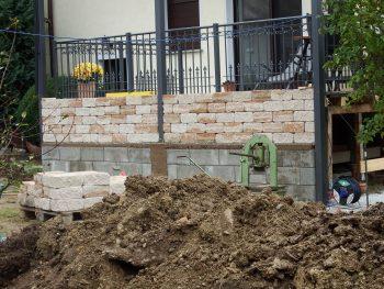 Bau der Terrassenverkleidung