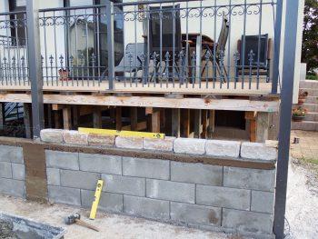 Terrassenverkleidung - Gartenanlage - Mauer aus Schalungssteinen
