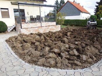 Garten nach umspaten